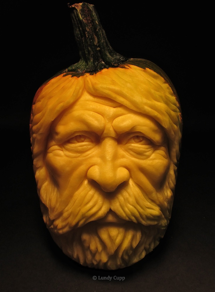 Realistic pumpkin carving professional carver